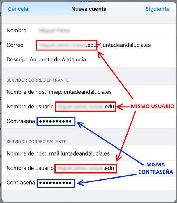 Configurar La Cuenta De Correo De La Junta De Andalucía En El Ipad O